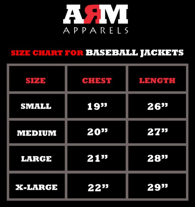SizeChart For BB-Jackets